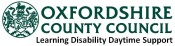 Oxfordshire County Council logo learning disability daytime support services