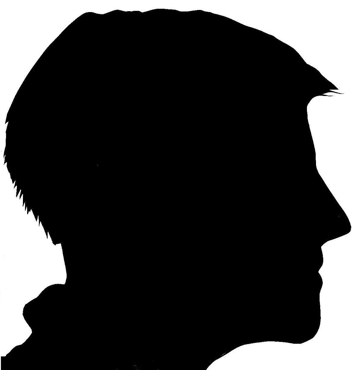 Silhouette of a man's face