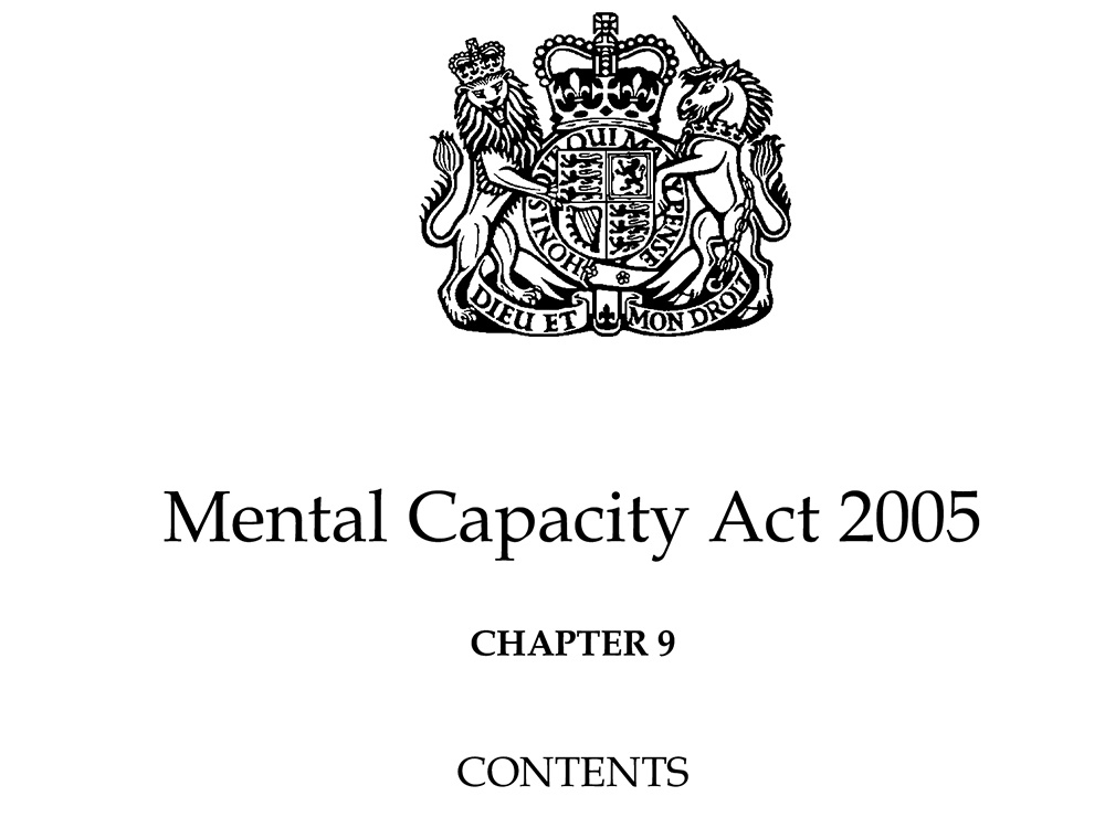 Cover page of the Mental Capacity Act 2005