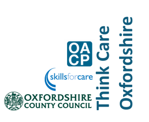 Triple logos for Oxfordshire Association of Care Providers, Oxfordshire County Council and Skills for Care