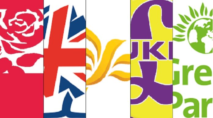 UK General Election 2017 party logos