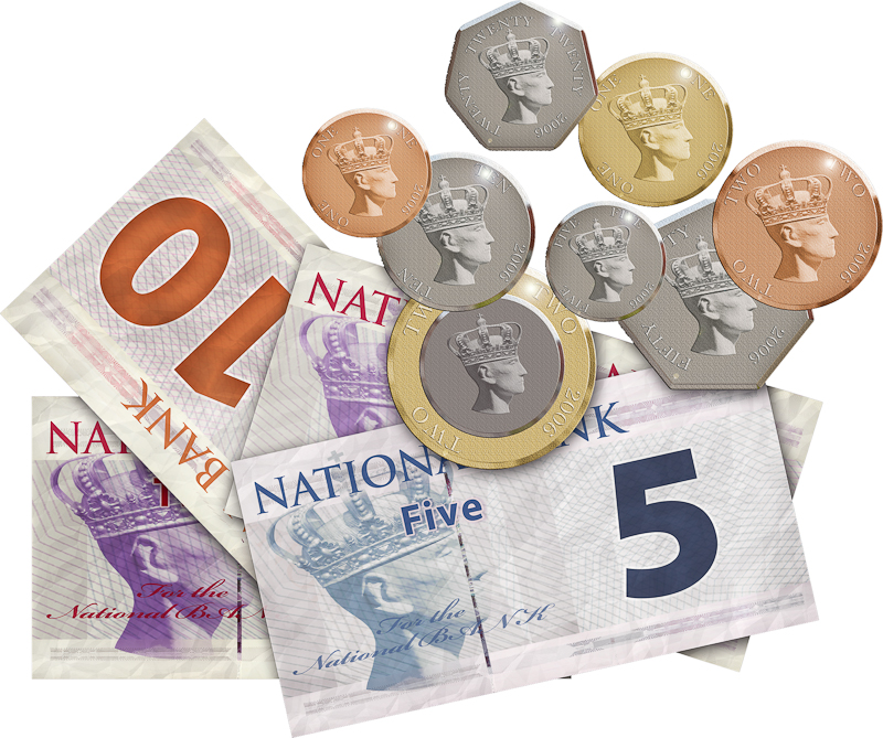 image of coins and notes